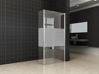 mueller Satijn hoek douchewand met matglas 40x200cm