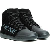 York D-WP®, Motorschoenen, Zwart-Anthraciet