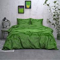 sleeptimeelegance Sleeptime Elegance Satijn Geweven Uni - Groen 1-persoons (140 x 220 cm + 1 kussensloop) Dekbedovertrek