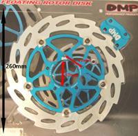 Remschijf zwevend oversized Gilera Runner 260mm voor DMP