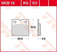 Standaard remblokken, en remschoenen voor de moto, MCB19