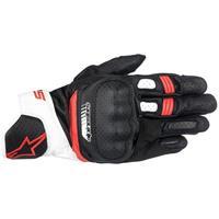 SP-5, Race motorhandschoenen, Zwart-Wit-Rood