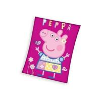 Peppa Pig fleece plaid - 110x140 cm - Roze