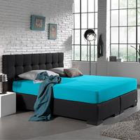 homecare Home Care Jersey Hoeslaken - Home Care Turquoise 80/90/100 x 200 cm