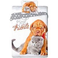 Animal Pictures Cat & Dog - Dekbedovertrek - 140 x 200 cm - Multi