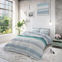 sleeptimeelegance Sleeptime Elegance Carl - Turquoise 1-persoons (140 x 220 cm + 1 kussensloop) Dekbedovertrek