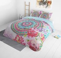 dreamhousebedding DreamHouse Bedding Flower Bomb - Multi 1-persoons (140 x 220 cm + 1 kussensloop) Dekbedovertrek