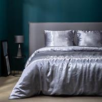 fresh&co Fresh & Co Dekbedovertrek Silk Satin - Grijs 1-persoons (140 x 220 cm + 1 kussensloop)