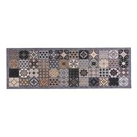 Leen Bakker Keukenloper Patchwork - grijs - 50x150 cm