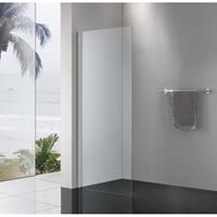 Royal Plaza Sway zijwand voor schuifdeur 100x200cm zilver glans-helder clean 49264
