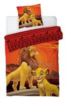disney dekbedovertrek Lion King 140 x 200 cm polyster oranje