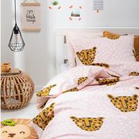 fresh&cokids Fresh&Co Kids Dekbedovertrek Pink Panther 1-persoons (140 x 200 + 1 kussensloop) Dekbedovertrek