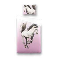 fresh&cokids Fresh&Co Kids Dekbedovertrek Majestic Horse 1-persoons (140 x 200 + 1 kussensloop) Dekbedovertrek