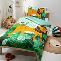 fresh&cokids Fresh&Co Kids King of the Forest 1-persoons (140 x 200 + 1 kussensloop) Dekbedovertrek