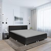 hotelhome Hotel Home Topper Hoeslaken Stretch - Basic Grijs 90 x 200/210/220