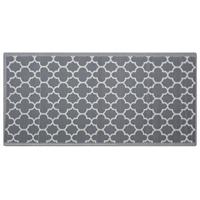 Beliani Outdoor tapijt grijs 90x180 cm SURAT