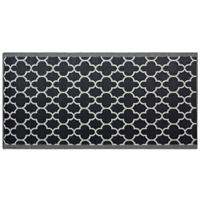 Beliani Outdoor tapijt zwart 90x180 cm SURAT