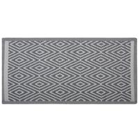 Beliani Outdoor vloerkleed lichtgrijs 90 x 150 cm SIKAR