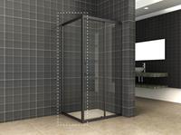 mueller Skyline zijwand voor douchedeur 100x200cm mat zwart