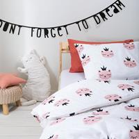 fresh&cokids Fresh&Co Kids Sleepy Kitten 120 x 150 Dekbedovertrek