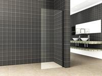 mueller zijwand voor douchedeur 100x200cm mat zwart