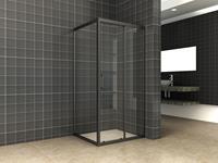 mueller Skyline zijwand voor douchedeur 80x200cm mat zwart