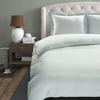 hotelhomecollection Hotel Home Collection Manchester - Zilver 1-persoons (140 x 200/220 cm) Dekbedovertrek