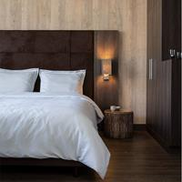 hotelhomecollection Hotel Home Collection London - Zilver 1-persoons (140 x 200/220 cm) Dekbedovertrek