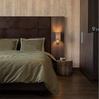 hotelhomecollection Hotel Home Collection London - Truffel 1-persoons (140 x 200/220 cm) Dekbedovertrek