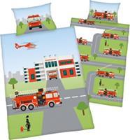 babybest Flannel bedlinnen brandweer GOTS 100x135 cm