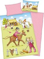 babybest Flannel beddengoed Ponyhof GOTS 100x135 cm