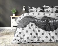 DreamHouse Bedding Romance Silver 1-persoons (140 x 220 cm + 1 kussensloop) Dekbedovertrek