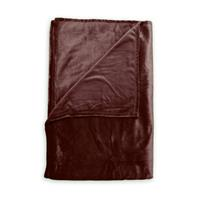 Zo Home Flanel Fleece Plaid Cara - mahogany red - 140x200
