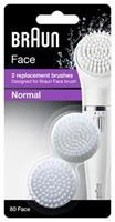 Braun - Replacement for Facial Cleansing Brush, 2 pcs (Face 80)