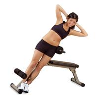 (Best Fitness) Ab Board Hyperextension - Rood