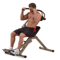 Body-Solid (Best Fitness) Ab Mantis Bench - Rood
