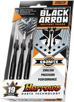Harrows Black Arrow Steeltip Darts Gram : 25 gram