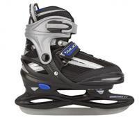 nijdam Ijshockeyschaats 3172 Junior Zwart Zilver