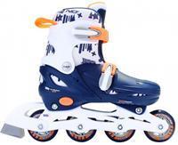 nijdam Inline Skates hardboot junior blauw/wit