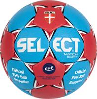 DerbyStar Select Handbal Match Soft blauw/rood maat 3