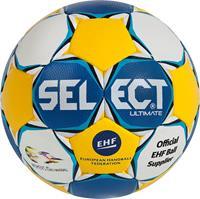 DerbyStar Select Handbal Ultimate EC wit/blauw/geel maat 2
