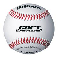 Wilson Honkbal bal Soft Compression wit