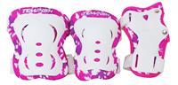 Tempish beschermset FID meisjes wit/roze maat M