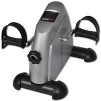 vidaXL Mini Hometrainer met plastic vliegwiel (zilver)