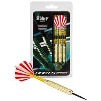Abbey Darts Dartset Brass Steeltip gestreept 20 gram rood/wit