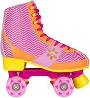 rolschaatsen Chevron dames roze