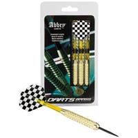 Abbey Darts Dartset Brass Steeltip 21 gram zwart/wit