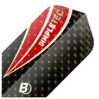 BULL'S Dimpletec Flights Slim Shape - Zwart