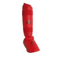 Adidas Scheen- en voetbeschermers voor karate rood