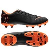 Nike Mercurial Vapor 12 Academy MG Fast AF - Zwart/Oranje/Wit
